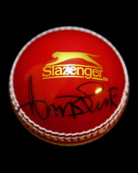 Curtly Ambrose Hand Signed Cricket Ball : B