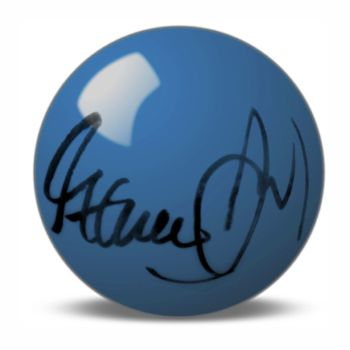 Steve Davis Hand Signed Blue Snooker Ball.
