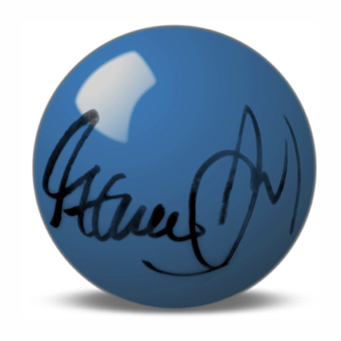 Steve Davis Hand Signed Blue Snooker Ball.