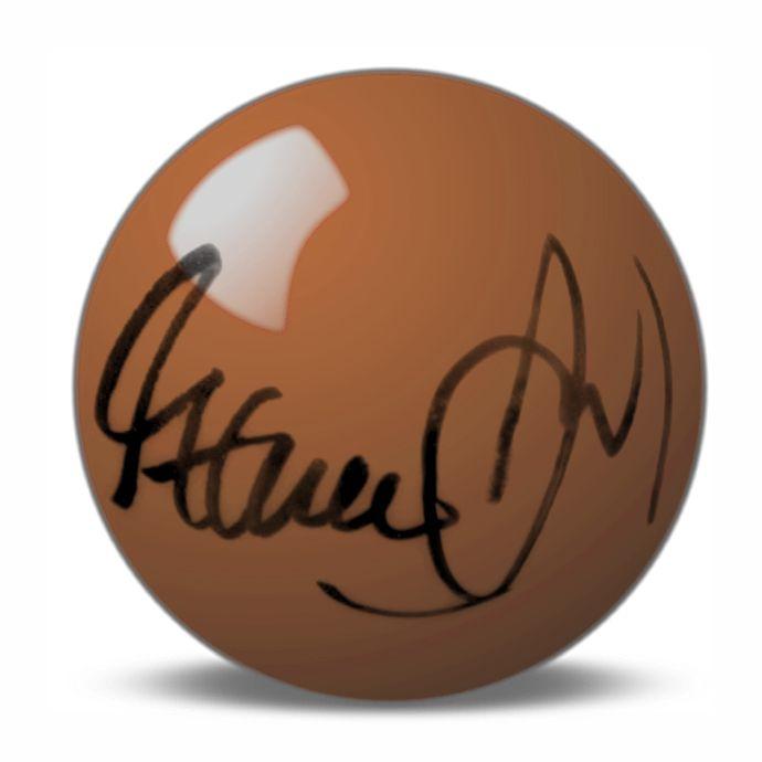 Steve Davis Hand Signed Brown Snooker Ball.