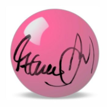 Steve Davis Hand Signed Pink  Snooker Ball.