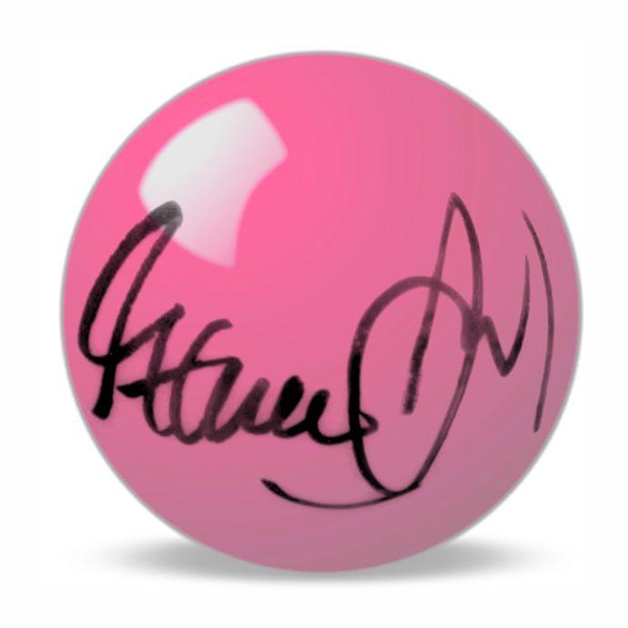 Steve Davis Hand Signed Pink  Snooker Ball.