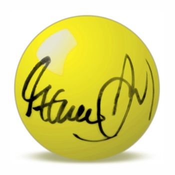 Steve Davis Hand Signed Yellow Snooker Ball.