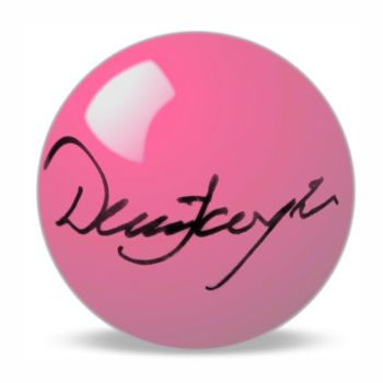 Dennis Taylor Hand Signed Pink Snooker Ball.