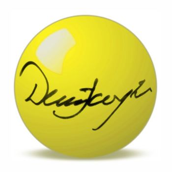 Dennis Taylor Hand Signed Yellow Snooker Ball.