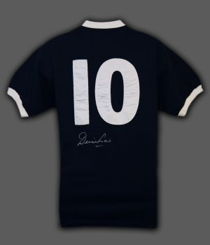 Denis Law Signed  Scotland Football Shirt