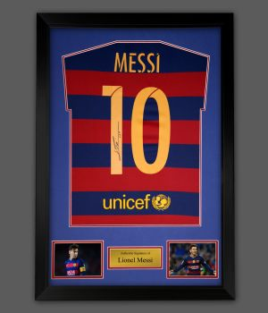 Lionel Messi Hand Signed And Framed Barcelona Fc Shirt