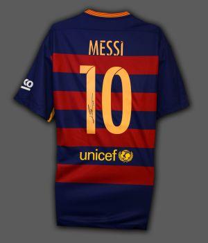 Lionel Messi Hand Signed Barcelona Fc Shirt