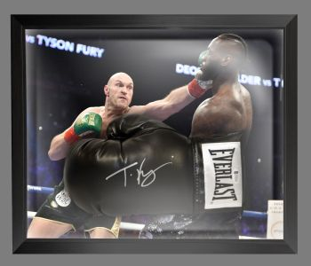 Tyson Fury Signed Black Everlast Boxing Glove Presented In A Dome Frame : B