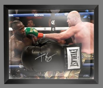 Tyson Fury Signed Black Everlast Boxing Glove Presented In A Dome Frame : C