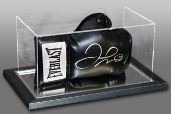 Floyd Mayweather Signed Black Boxing Glove In An Acrylic Case