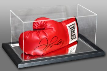 Floyd Mayweather Signed Red Boxing Glove In An Acrylic Case