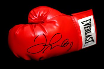 Floyd Mayweather Signed Red Boxing Glove