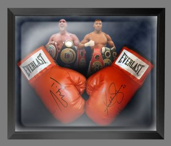 Anthony Joshua And Tyson Fury Signed Boxing Gloves In A Dome Frame