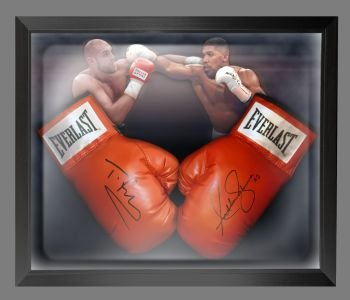 Anthony Joshua And Tyson Fury Signed Boxing Gloves In A Dome Frame : B