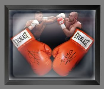 Anthony Joshua And Tyson Fury Signed Boxing Gloves In A Dome Frame : C
