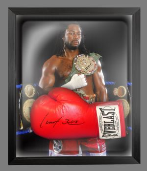 Lennox Lewis Signed Boxing Glove In A Dome Frame Presentation : A