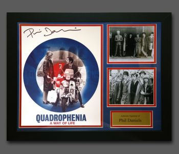 Phil Daniels Hand Signed Quadrophenia 12x16 Photograph In A Fame Presentation : B