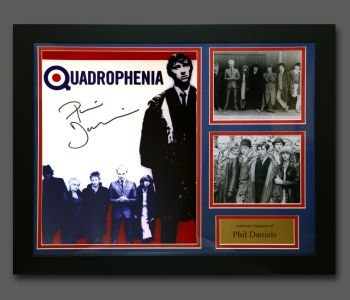 Phil Daniels Hand Signed Quadrophenia 12x16 Photograph In A Fame Presentation : C