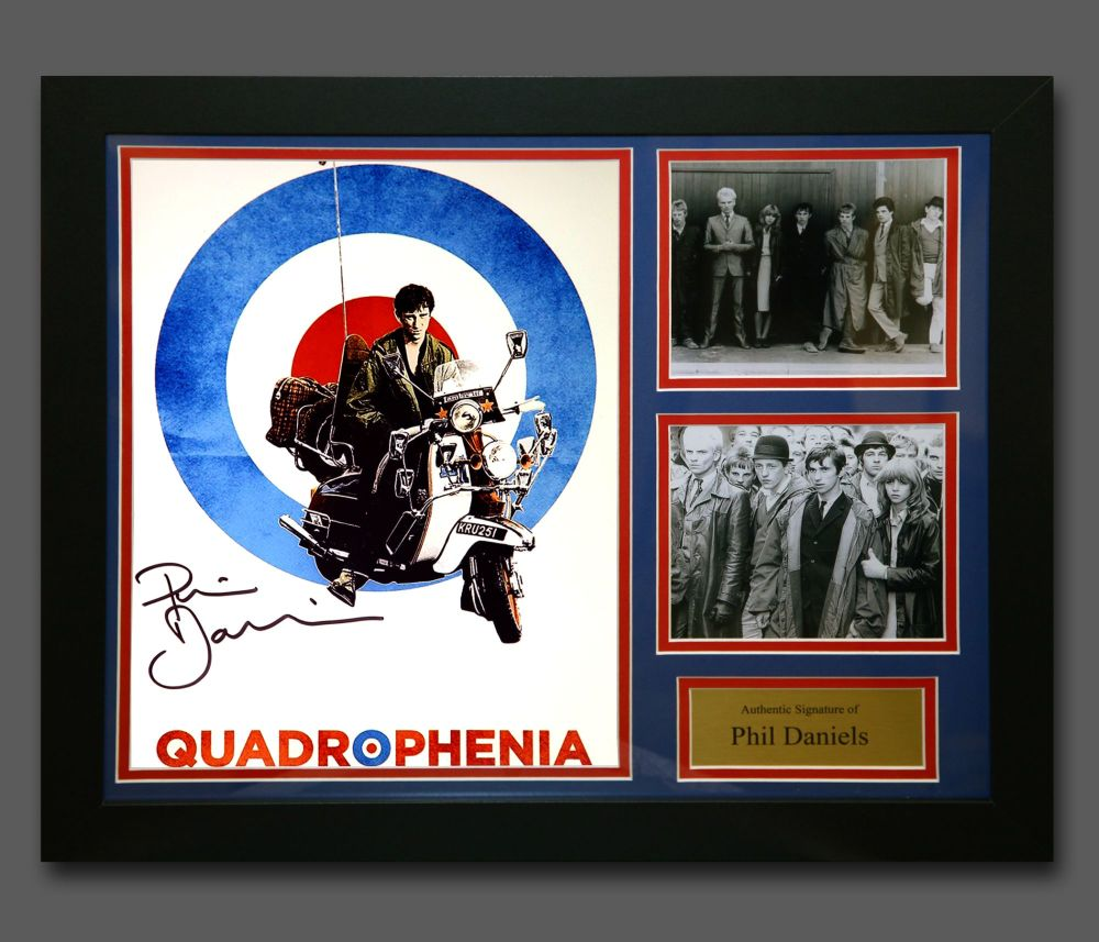 Phil Daniels Hand Signed Quadrophenia 12x16 Photograph In A Fame Presentati