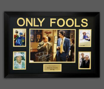 David Jason Hand Signed Only Fools And Horses 16x12 Photograph In  A Frame Presentation : B