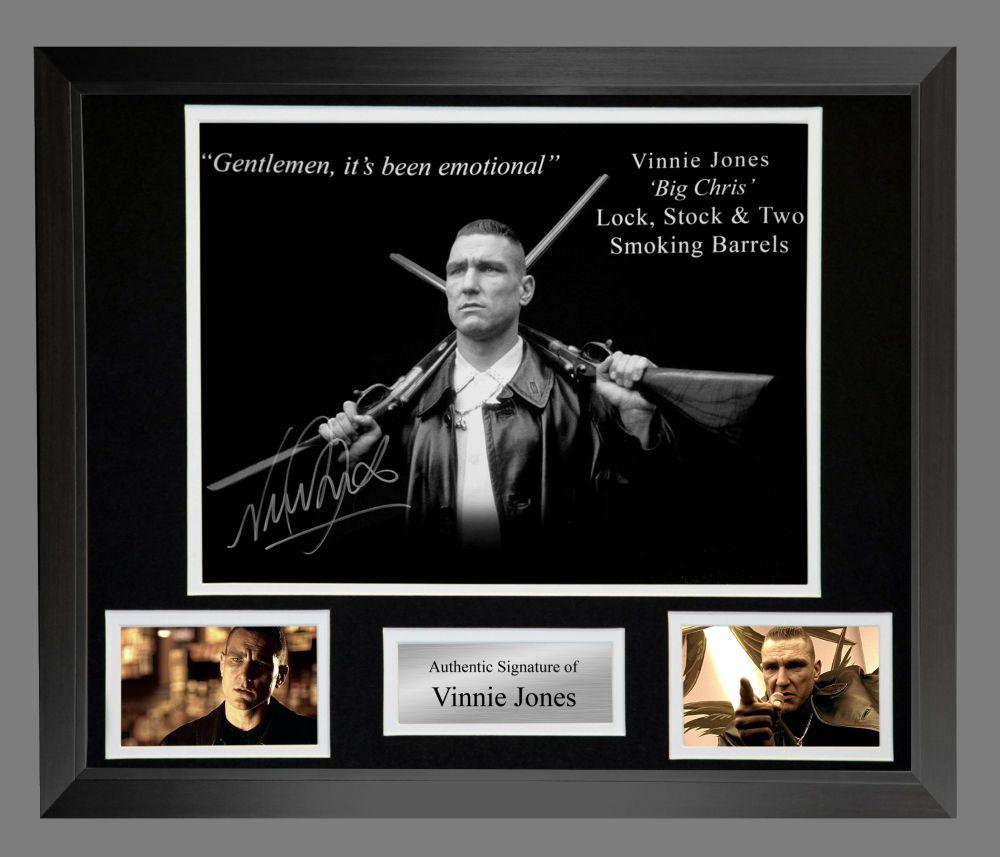 Vinnie Jones  Hand Signed Lock Stock 12x16 Photograph In A Fame Presentatio