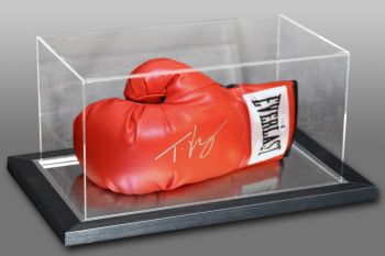 Tyson Fury Signed Red Everlast Boxing Glove In An Acrylic Case.