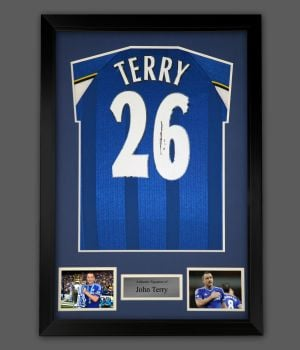 John Terry Hand Signed And Framed Chelsea Fc Football Shirt