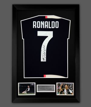 Cristiano Ronaldo Hand Signed  Juventus Fc Football Shirt In A Frame Presentation
