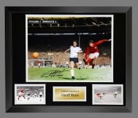 Geoff Hurst England 1966 4th Goal Colourised Large Photograph In A Frame Presentation