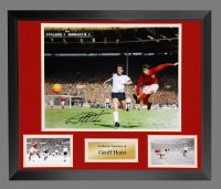 Geoff Hurst England 1966 4th Goal Colourised Large Photograph In A Frame Presentation : A