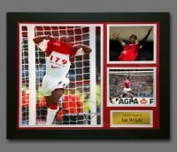 Ian Wright Arsenal Signed Football Photograph In A Framed Presentation