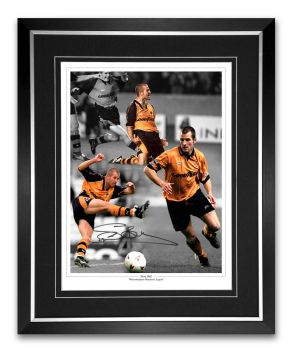 Steve Bull Signed and Framed Football Montage