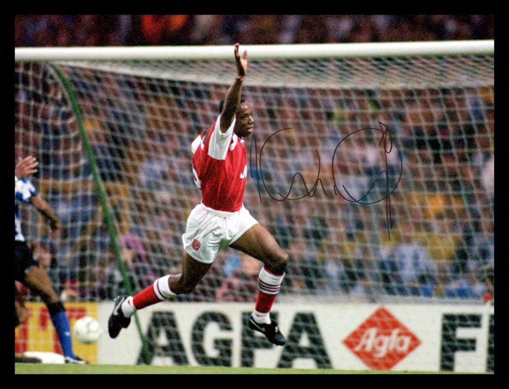 Ian Wright Hand Signed 12x16 Arsenal Photograph : B