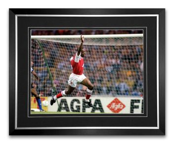 Ian Wright Arsenal Signed And Framed Football Photograph B