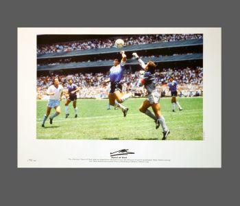 Diego Maradona Signed Argentina Football Photograph