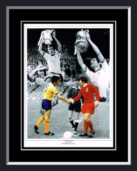 Frank Mclintock  Hand Signed 12x16 Arsenal Montage