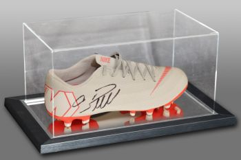 Cristiano Ronaldo Hand Signed Football Boot Presented In An Acrylic Case: B