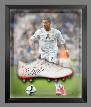 Cristiano Ronaldo Real Madrid Hand Signed Football Boot in an Acrylic Dome : B