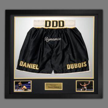 Daniel Dubois Hand Signed And Framed Custom Made Boxing Trunks ...