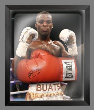 Joshua Buatsi  Hand Signed Red Everlast Boxing Glove In A Dome Frame....