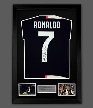 Cristiano Ronaldo Hand Signed  Juventus Fc Football Shirt In A Frame Presentation...
