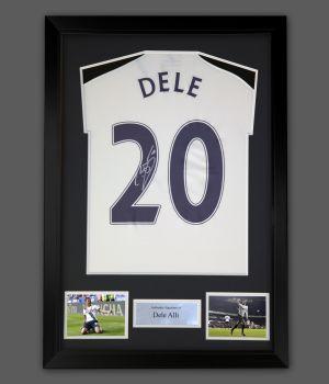 Dele Alli Tottenham Hotspur Hand Signed And Framed Football shirt.