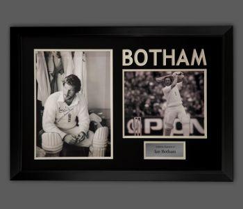 Ian Botham England Cricket Signed Photograph In A Framed Presentation...