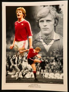 Gordon McQueen Signed 12x16 Manchester United Photograph
