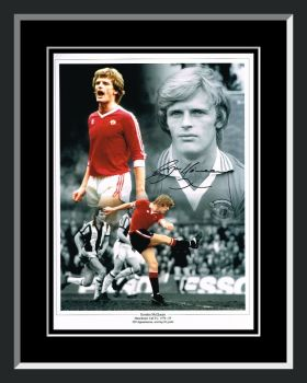 Gordon McQueen Manchester United Signed And Framed Football Photograph
