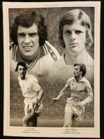 Joe Jordan And Gordon McQueen Duel Signed Leeds United 12x16 Photograph