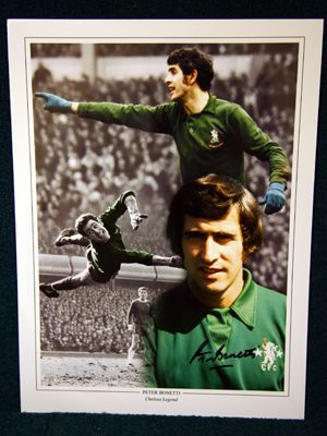 Peter Bonetti Signed Chelsea 12x16 Photograph