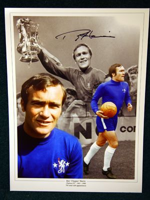 Alan Harris Signed Chelsea 12x16 Photograph