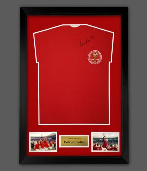 Bobby Charlton Hand Signed England 1966 Football Shirt In A Framed Presentation,,
